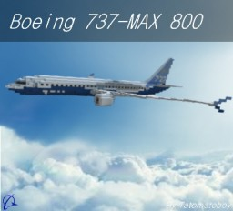 Boeing 737-MAX 800 | Boeing House Livery Minecraft Project