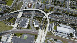 Blenhiem Interchange | Huntington City | ECS Minecraft Map & Project