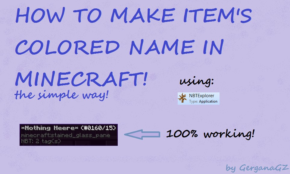 How To Make Colored Items Name In Minecraft Tutorial With