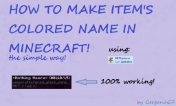 How to make colored item's name in Minecraft! - Tutorial with NBTExplorer Minecraft Blog