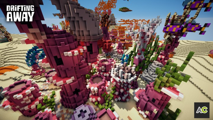 Purple coral houses