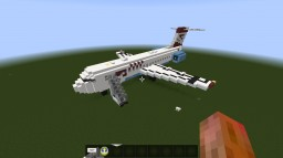 Austrian Airlines Fokker 100 Minecraft Map & Project