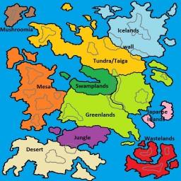 10k by 10k Fantasy Map - Dawnfury Server Minecraft