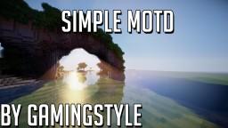 Simple MOTD Minecraft Mod