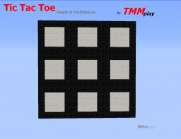 [Mini Game] Tic Tac Toe- Single & Multiplayer Minecraft Map & Project