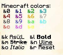 как писать разноцветными буквами в майнкрафт на сервере #8
