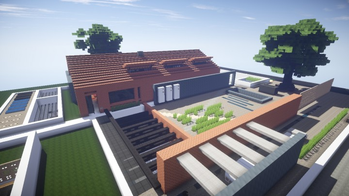 Modern Industrial House / Maison moderne industriel Minecraft Project