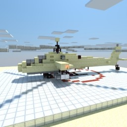 AH 64 Apache Minecraft Map & Project