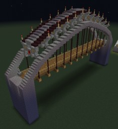 Arch Suspension Bridge Minecraft Map & Project