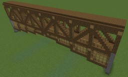 Covered Wood Bridge - 47 tiles long Minecraft
