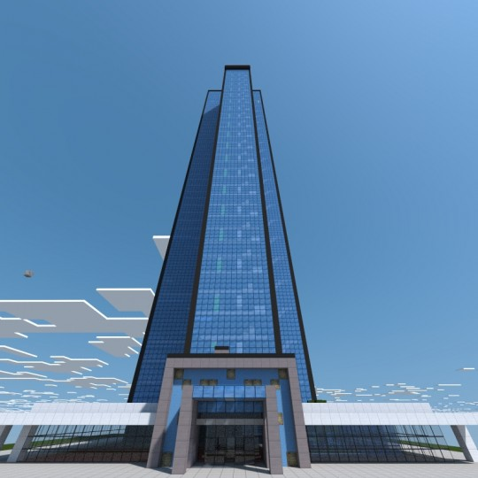 The west residential tower a modern skyscraper minecraft Modern residential towers