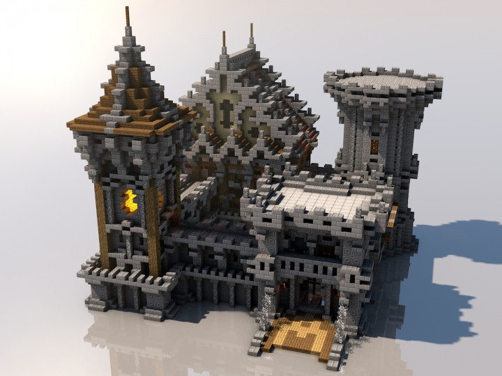 Medieval mondays 6 castle minecraft project for Build a castle house