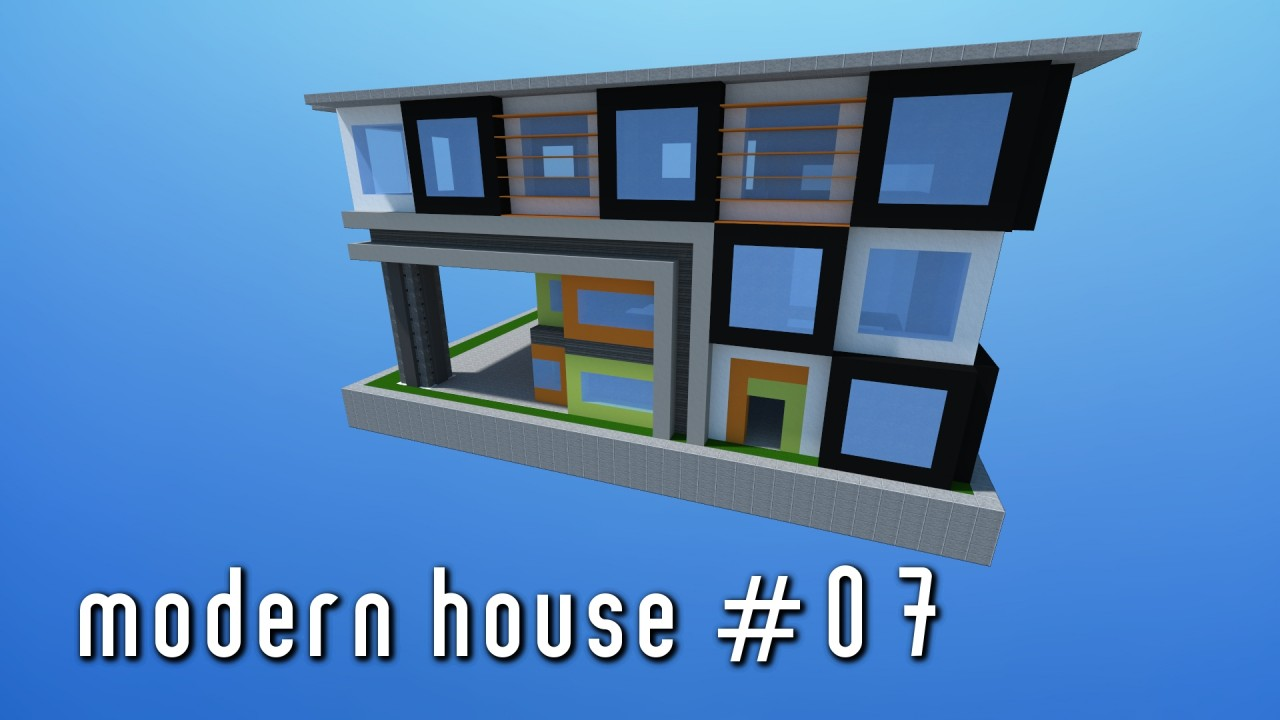 Modern house 07 small simple minecraft project for Modern house projects