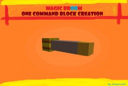 [One Command Creation] Magic Witch Broom! By GerganaGZ Minecraft Map & Project