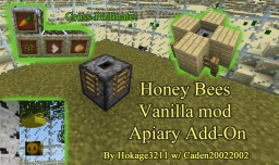 Vanilla Honeybees Mod Apiary Add-on Minecraft Project