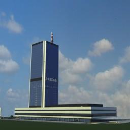 Warsaw Marriott Hotel -  A Modern Skyscraper Minecraft Map & Project