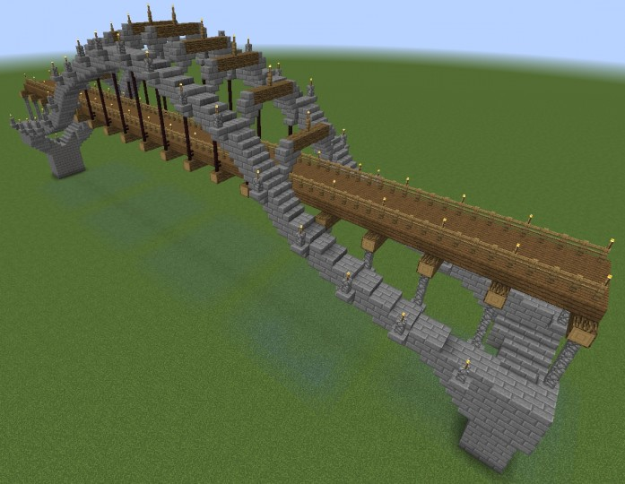 Wood And Stone Bridge The Wave Minecraft Project