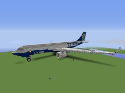 Boeing 737-800 Ryanair Minecraft Map & Project