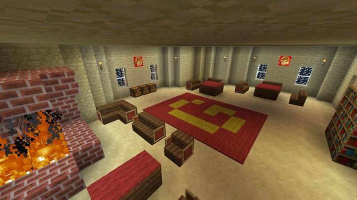 Gryffindor Common Room Minecraft HarryPotter World Mine...