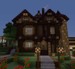 Cute Victorian Netherbrick House Minecraft Map & Project