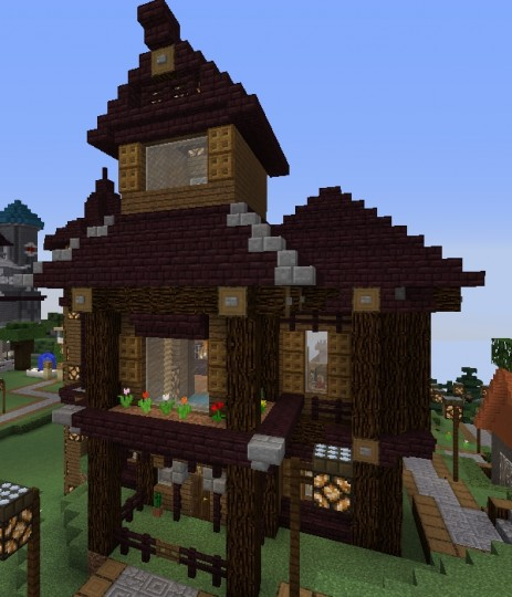 Cute Victorian Netherbrick House Minecraft Project