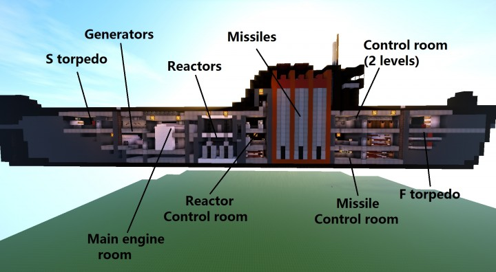 K-19 - Russian Nuclear Submarine Minecraft Project