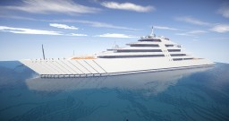 Azzam Superyacht (300 Blocks Long) Minecraft Map & Project