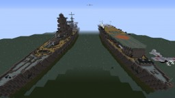 IJN: Shinano aircraft carrier and Musashi battleship WW2 Minecraft Project