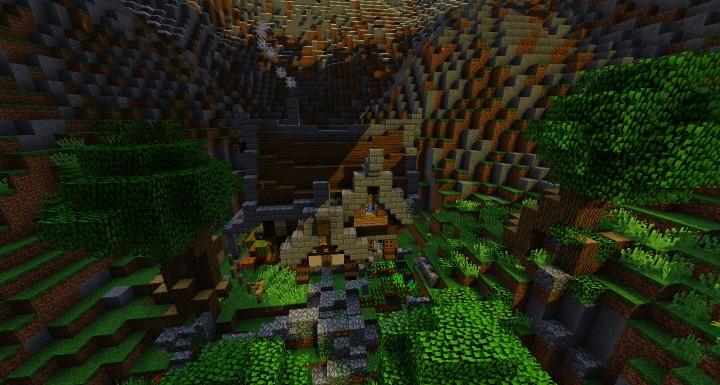 Hillside Manor: Hillside Manor [MEDIEVAL DESIGN] Minecraft Project
