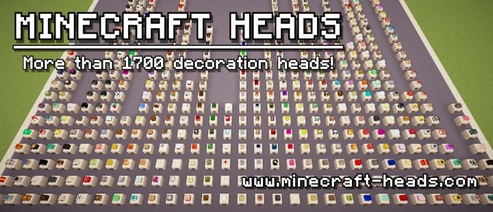 Minecraft 1 8 custom heads 1700 minecraft project - Minecraft head decoration ...