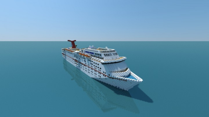 Carnival Ecstasy Cruise Ship (full Interior) Minecraft Project