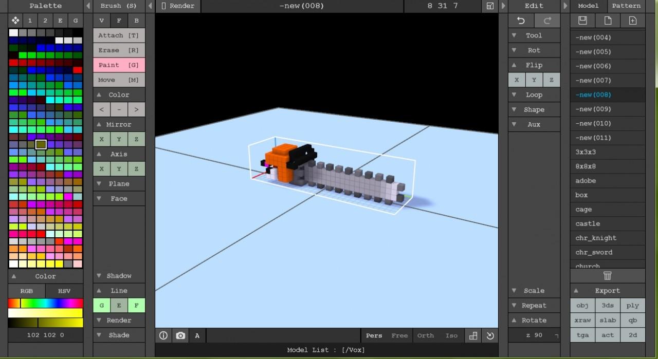 MagicaVoxel Tutorial Minecraft Blog