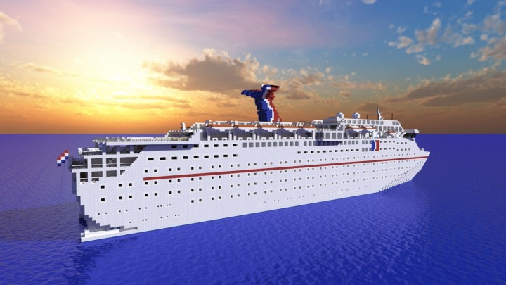 Carnival Holiday Classic Cruise Ship Minecraft Project