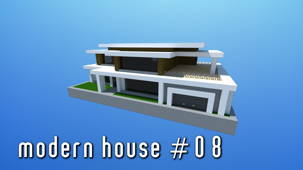 Modern House 08 Small Simple Minecraft Project