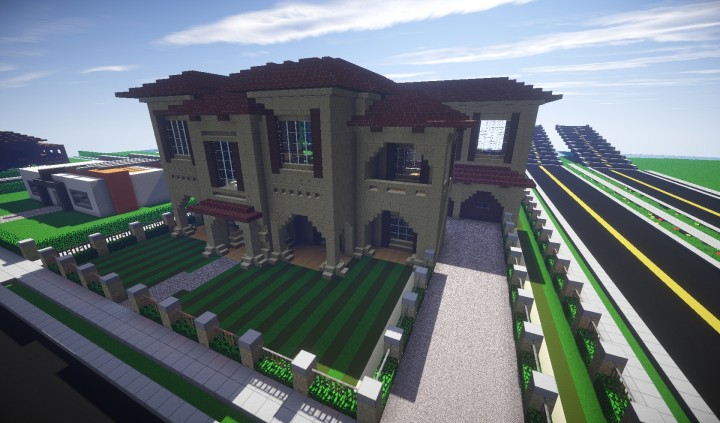 how to build a yandere high school in minecraft big