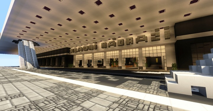 Modern Train Station Minecraft Project