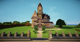 Victorian Queen Anne Style - Carson Mansion Minecraft Map & Project