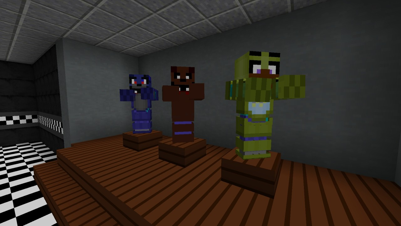 Fnaf unleashed uses a texture pack minecraft project