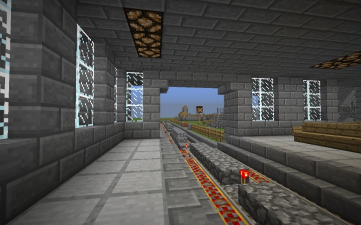 how to make a railway system minecraft