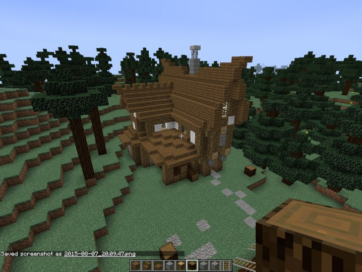 minecraft how to build lumberjack