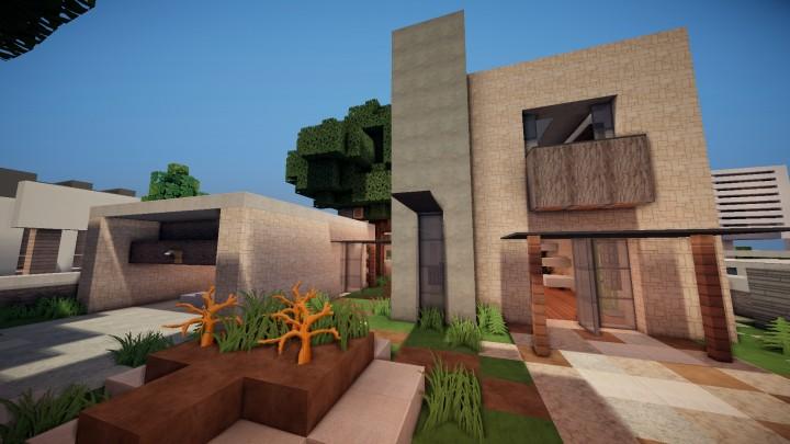 Pillars Modern House 8 Minecraft Project
