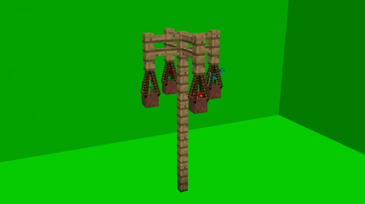 Decorations with only one command block Minecraft Map