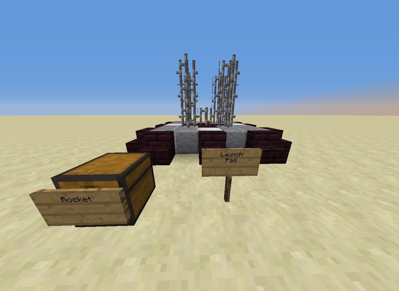 minecraft rocket ship command