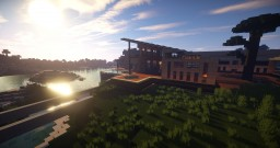 Modern SeaSide Mansion Minecraft Map & Project