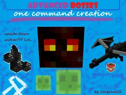 [One Command Creation] Advanced Bosses by GerganaGZ - Fight harder with the Dragon, the Wither and the new boss! Minecraft Map & Project