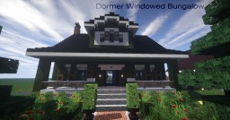 Dormer Windowed Bungalow | Mine County Houses Minecraft Map & Project