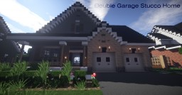 Double Garage Stucco Home | Mine County Houses Minecraft Map & Project