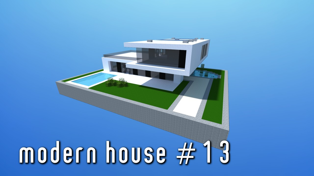Modern house 13 small simple minecraft project for Modern house projects