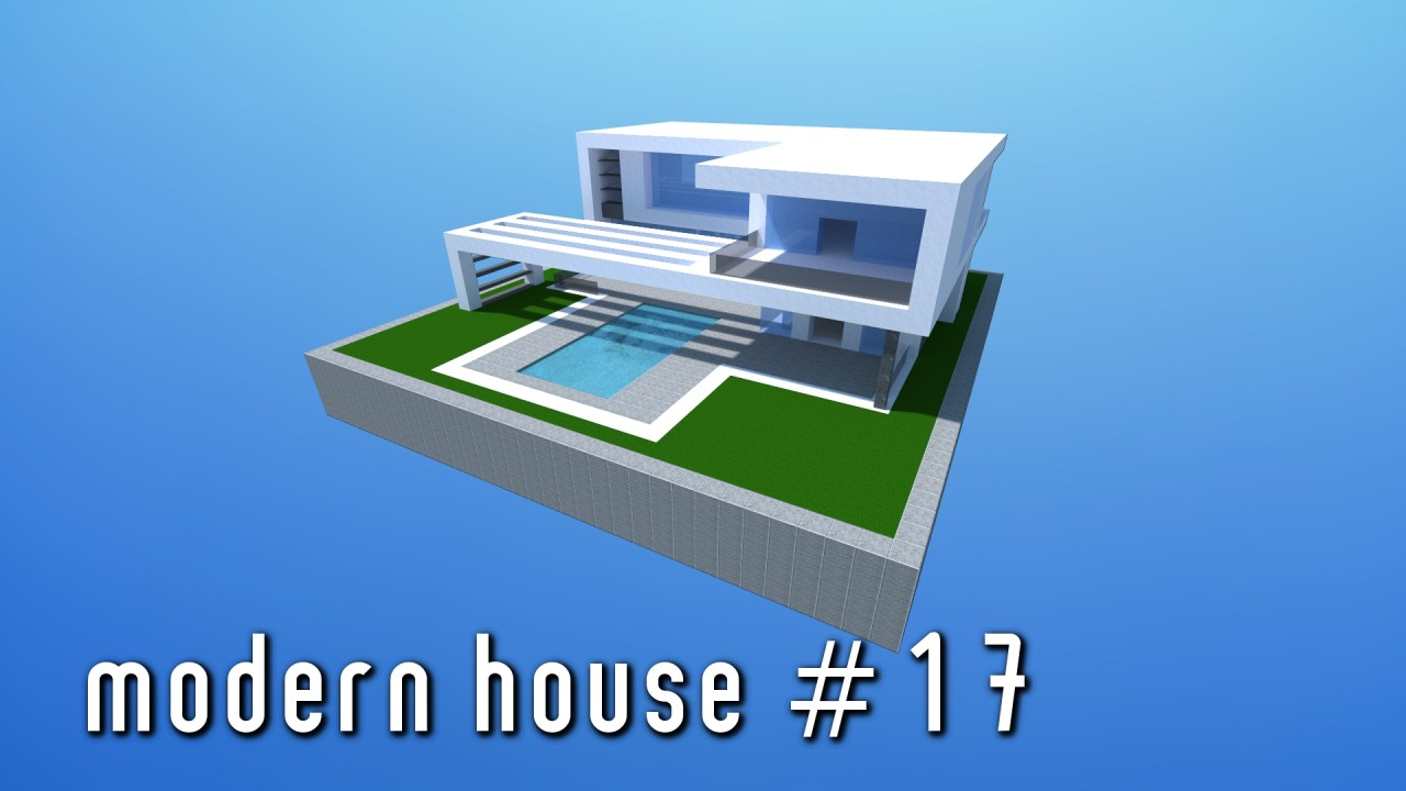 Modern house 17 small simple minecraft project for Modern house projects
