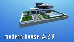 Modern House #20 | small & simple [Download with all 20 houses] Minecraft Map & Project